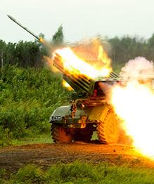 L'armée de terre russe au combat