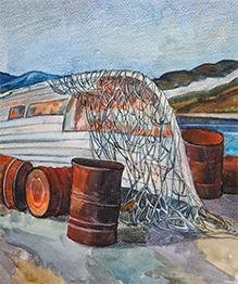 Une jeune artiste russe peint le Cercle Polaire en Sibérie